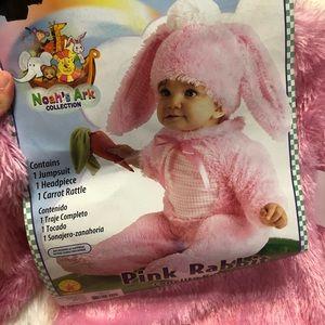 Pink rabbit costume (M)